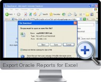 Export Oracle Reports screenshot