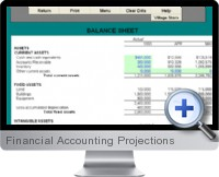 Financial Accounting Projections screenshot