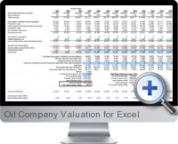 Oil Company Valuation screenshot