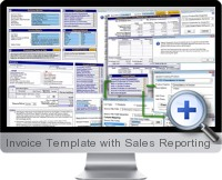 Invoice Template with Sales Reporting screenshot