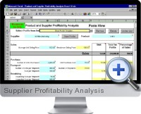 Supplier Profitability Analysis screenshot