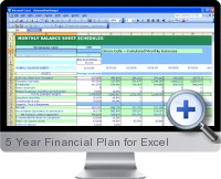 5 Year Financial Plan screenshot