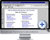 Financial Formula Calculations screenshot