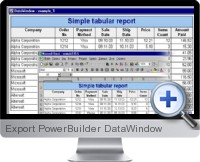 Export PowerBuilder DataWindow screenshot