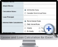 Lease and Loan Calculation screenshot