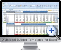 Divisional Budget Templates screenshot