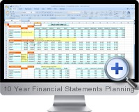 10 Year Financial Statements Planning screenshot