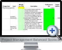 Project Management Balanced Scorecard screenshot