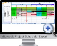 Microsoft Project Schedule Export screenshot