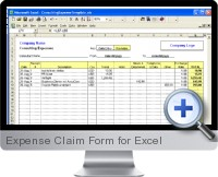 Expense Claim Form screenshot