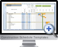 Construction Schedule Templates screenshot