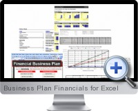 Business Plan Financials screenshot