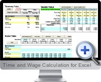 Time and Wage Calculation screenshot