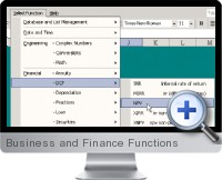 Business and Finance Functions screenshot